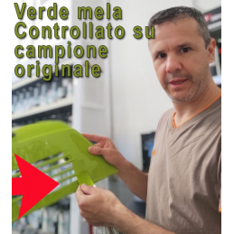 verde mela controllato su campione originale