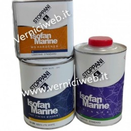 SW913 OYSTER WHITE Isofan marine fast finish stoppani kit completo per verniciare la barca a spruzzo