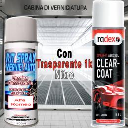 Bomboletta spray con trasparente nitro 249 BIANCO SANTARELLINA/BANCHISA Pastello 1993 2008 Alfa romeo