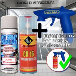Bomboletta spray con trasparente 2k e impugnatura 251 VERDE MIRTO Metallizzato o perlato 1986 1995 Alfa romeo