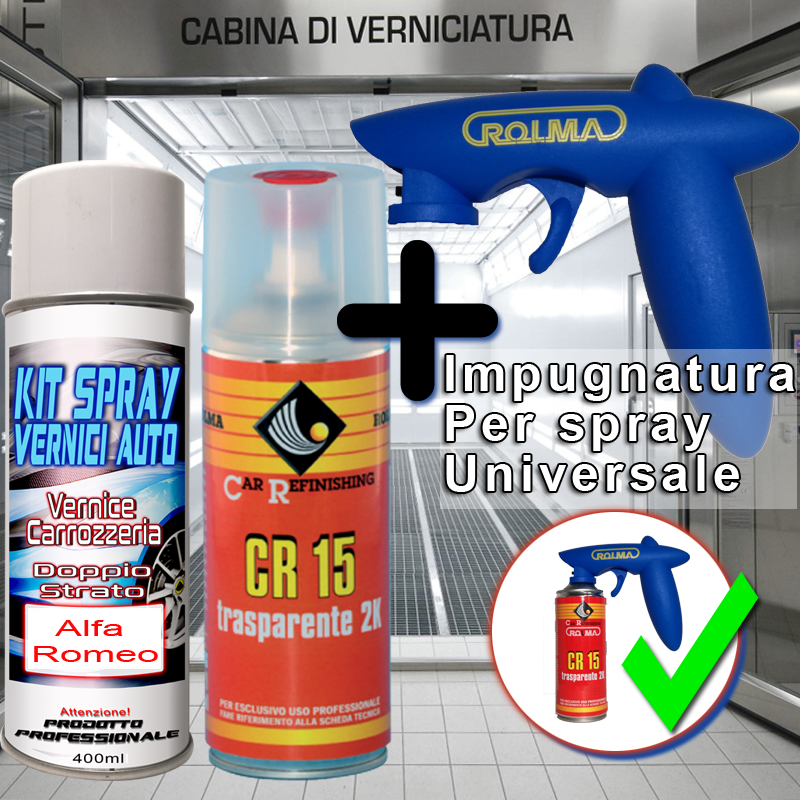 kit bomboletta spray Fiat 500  604 GRIGIO GARDA Pastello 1969 1972