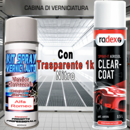 kit bomboletta spray Fiat 500  656B MATT CHROME Metallizzato e/o perlato 2008 2010
