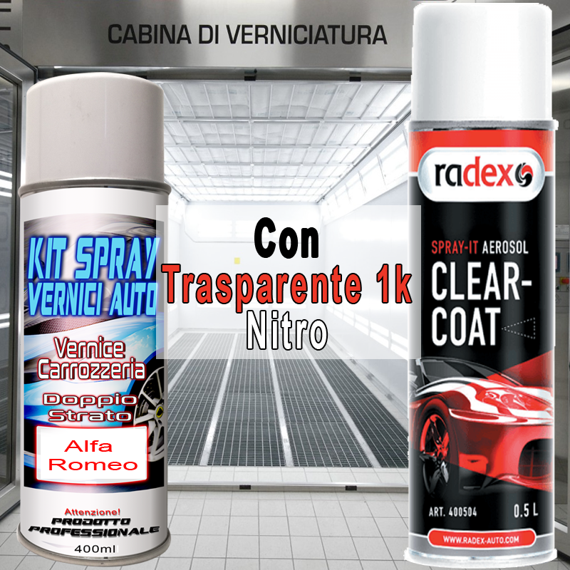 kit bomboletta spray Fiat 500  656B MATT CHROME Metallizzato e/o perlato 2008 2010