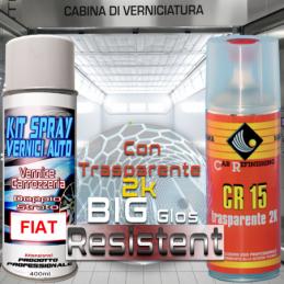 Bomboletta spray con trasparente 2k Fiat 268A  BIANCO IDEALISTA (FREEMONT) Pastello bombolette spray da 400ml