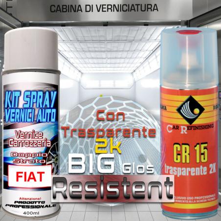 bombolette spray con trasparente 2k Fiat 876B  NERO CARBONIO