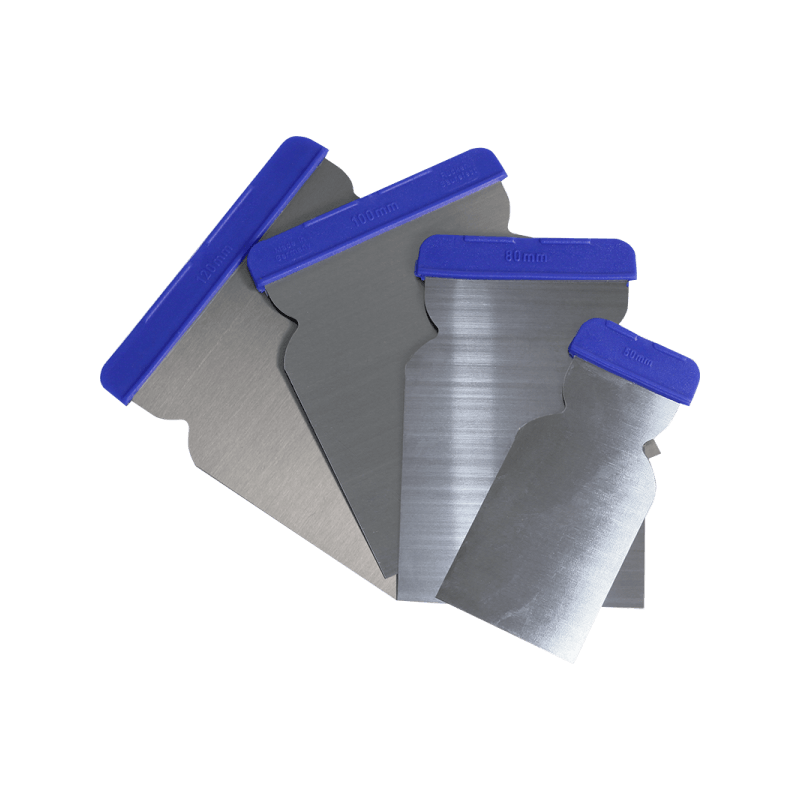 Kit 4 spatole per stucco poliestere