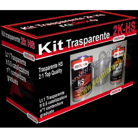 Vernice trasparente 2k hs Radex per ciclo doppio strato con catalizzatore e tazza graduata