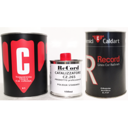 Trasparente opaca caldart record lt1 con catalizzatore e diluente