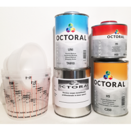 Prodotti kit vernice metallizzata vespa 2/3 grigio titanio