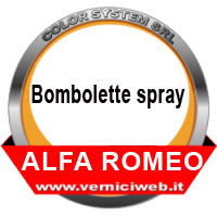 Vernici spray Alfa romeo