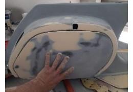 Preparazione verniciatura vespa